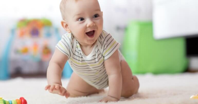 Baby crawls on carpet - Gillespie Approach–Craniosacral Fascial Therapy